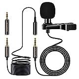 MOSOTECH Microfono de Solapa, 3.5mm Profesional Condensador Lavalier Micrófono con...