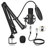 Micrófono de Condensador, TONOR Kit Micrófono Profesional Cardioide Estudio XLR...