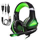 ShinePick Cascos para Xbox One, Auriculares Gaming PS4 con Micrófono Graba Tu Voz...