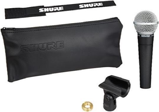 contenido de la caja del Shure Sm58