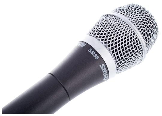 Micrófono Shure SM86 para chica