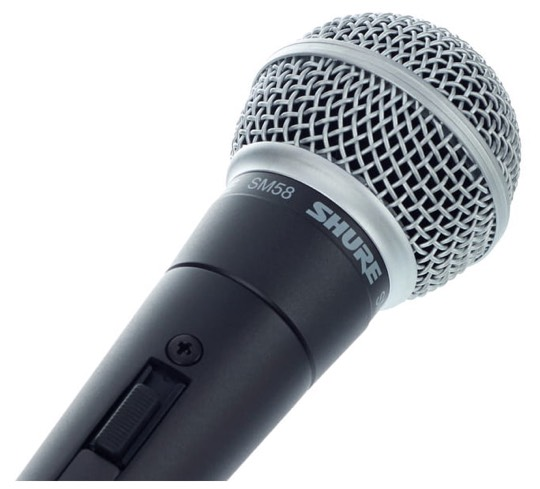 Shure SM58 S micrófono dinamico para cantar con encendido