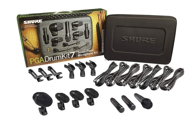 kit microfonos para bateria shure